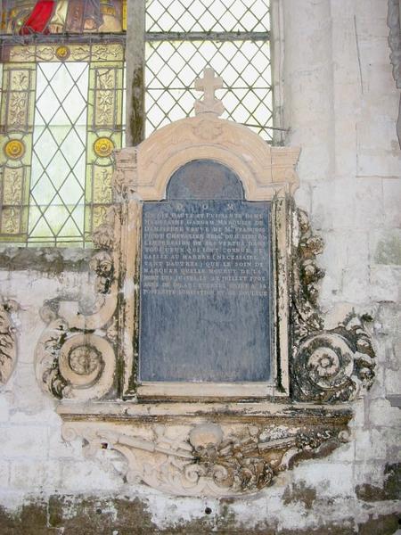 Dalle funéraire de Madeleine Gargam, marquise de Dampierre