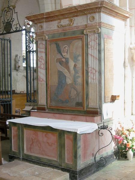 Autel, tableau : Sainte Catherine