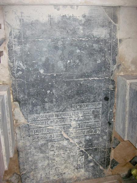 Dalle funéraire d'Artus de Vrissart