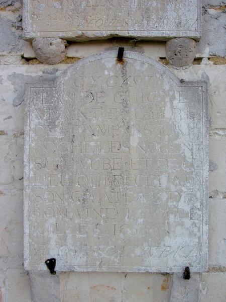 Dalle funéraire de Jean de Guigne