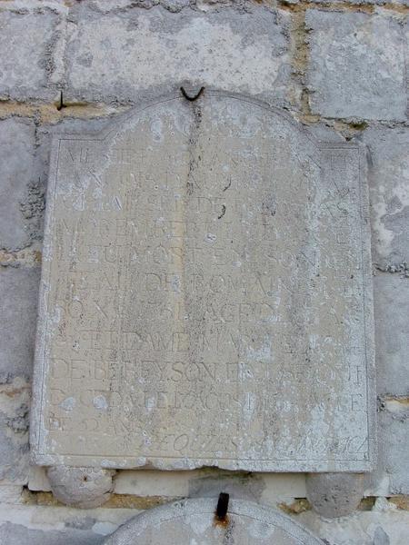 Dalle funéraire de Messire Armand Jean François Daulnay et dame Marie-Elisabeth de Bereyson