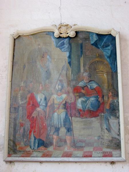 Tableau : Martyre de saint Georges, cadre