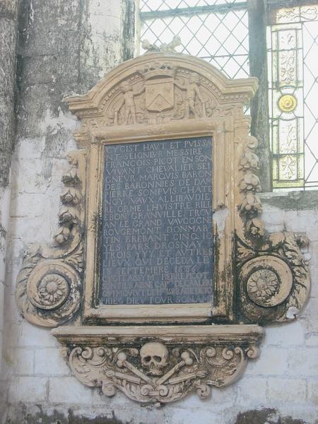 Dalle funéraire de François Picot et son fils Pierre