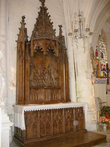Autel et retable de saint Hubert