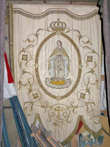 Bannière de procession : Vierge