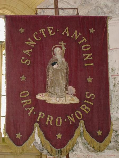 Bannière de procession : Saint Antoine