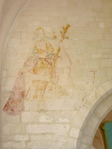 Peinture monumentale : Saint Christophe