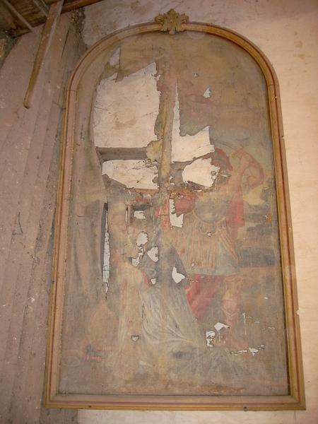 Tableau : Martyre de saint Léger (?)