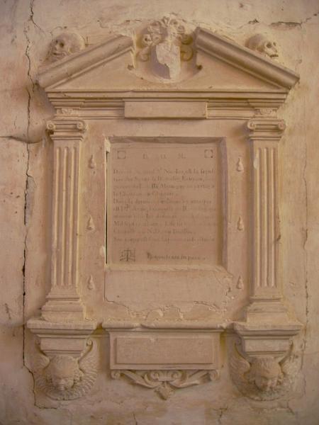 Monument funéraire d'Anne- Françoise de Ramesey