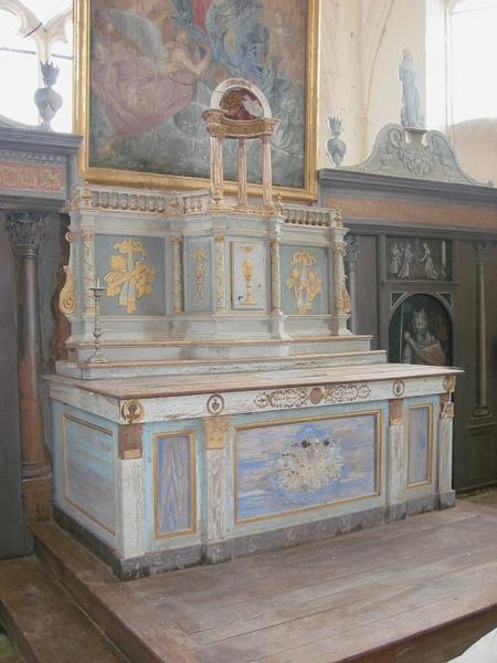 Retable du Maître-autel, exposition
