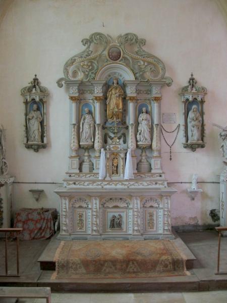 Autel latéral nord, retable, tabernacle