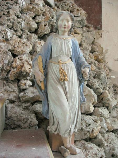 2 statuettes : Saintes