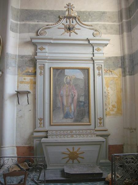 Autel et retable, tableau d'autel : Saint Éloi