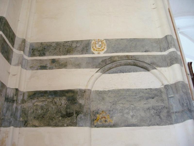 Litres funéraires, peinture monumentale : Visitation (?)