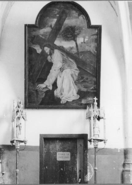 2 bâtons de procession de confrérie : Vierge à l'Enfant, saint Nicolas (détruits)
