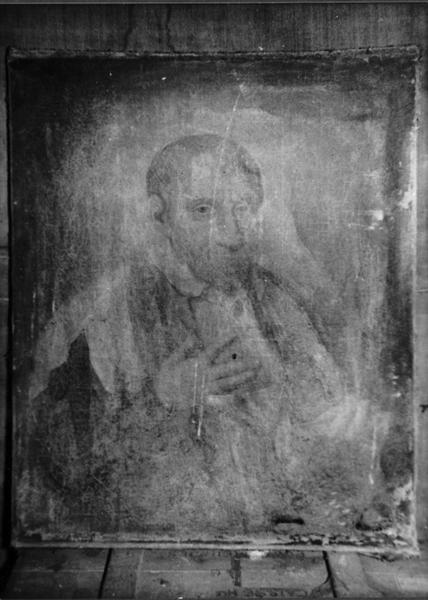 Peinture : Saint François de Sales ou saint Vincent de Paul (disparue)