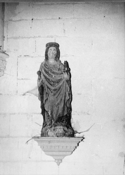 Statue : Sainte Catherine (volée)