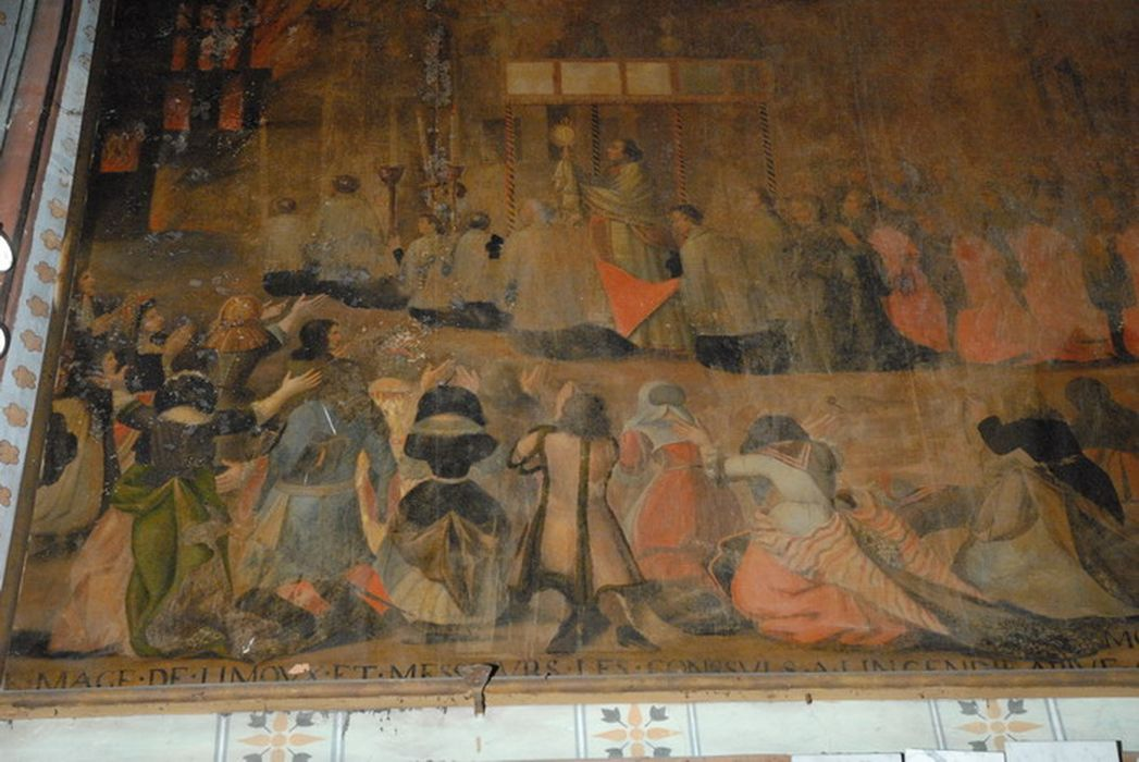 tableau ex-voto de l'incendie de 1685, vue partielle
