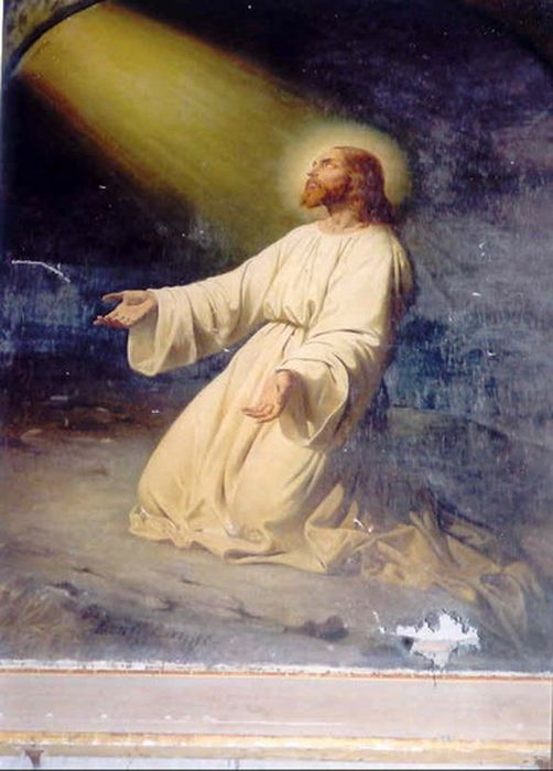 Tableau et son cadre : le Christ à Gethsémani