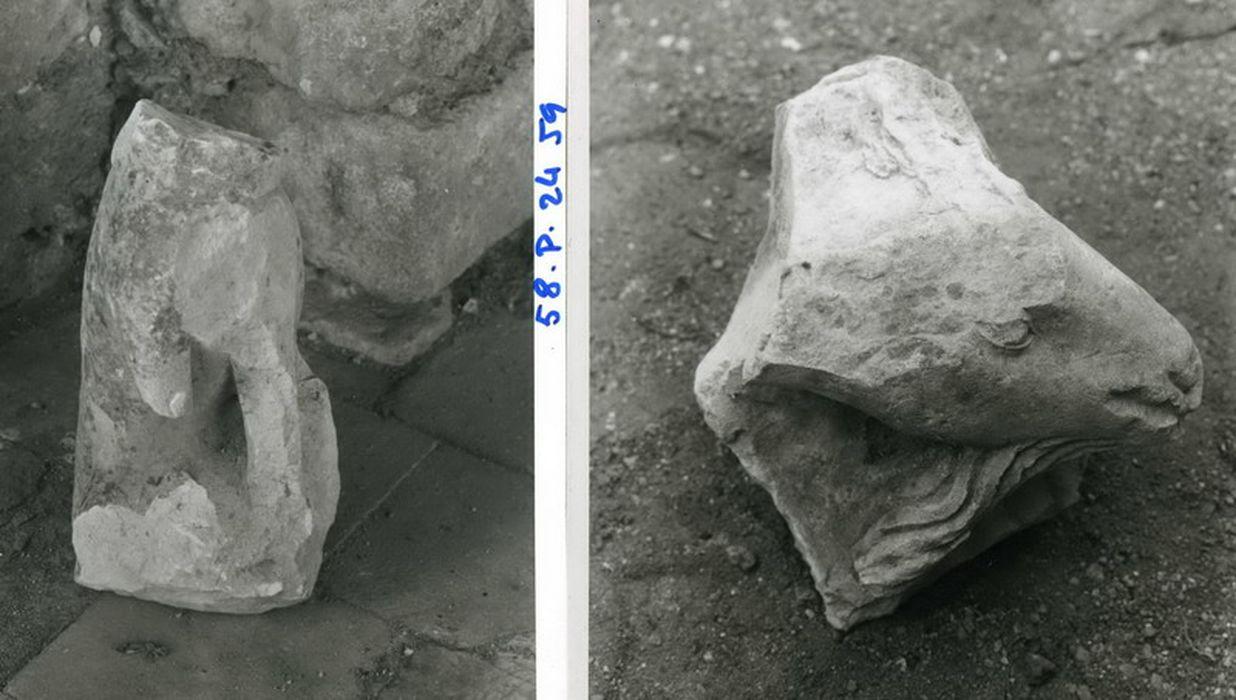crèche, fragments d'un agneau