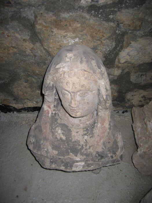statue (buste) : la Vierge