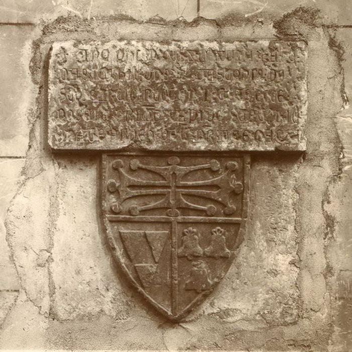plaque commémorative de la fondation de l'église