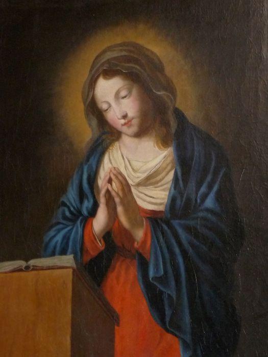 tableau : Vierge de l'Annonciation, vue partielle