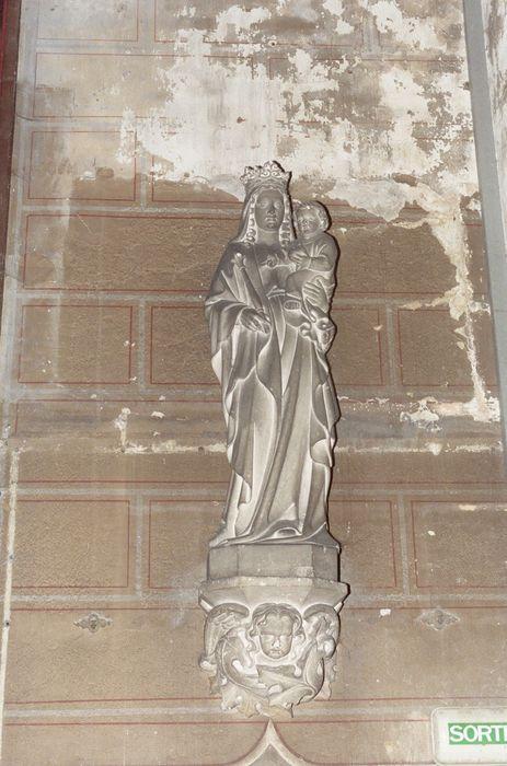 statue et sa console : Vierge à l'enfant