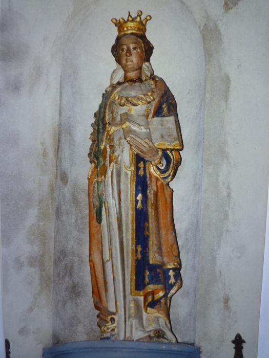Statue : Sainte Catherine ?