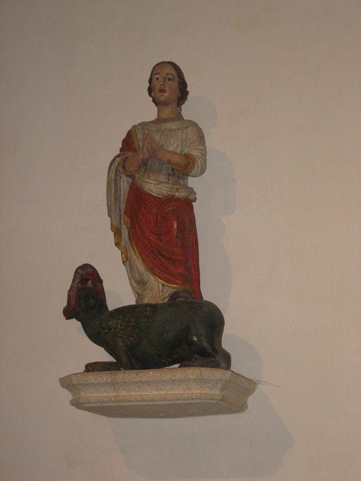 Statue : Sainte Marguerite et son dragon