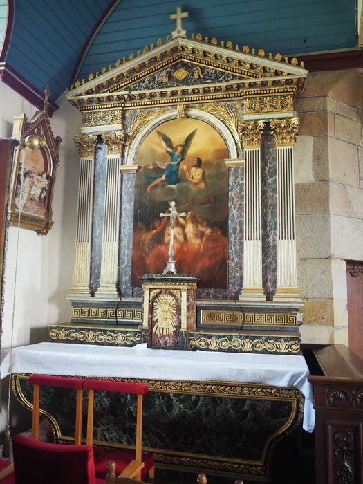 autel et retable du Purgatoire avec tableau, vue générale