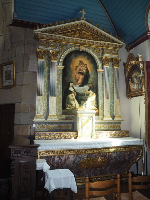 autel et retable du Rosaire, vue générale