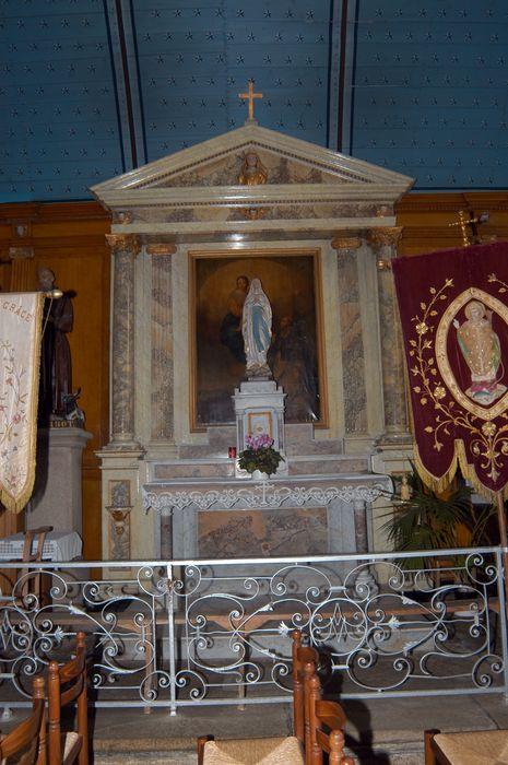 Autel, retable et tableau du Rosaire