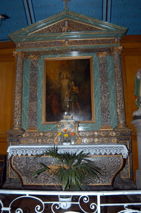 Autel, retable et tableau du L'Ange gardien