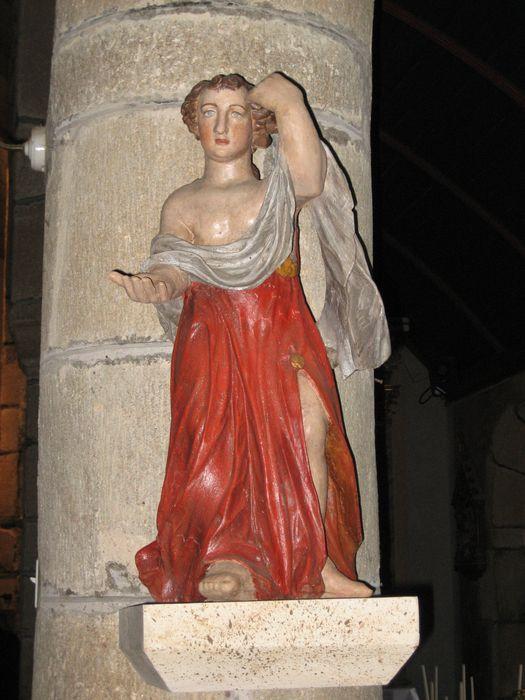 Statuette : Ange tenant un linge