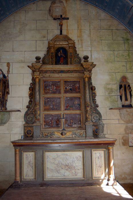 Retable à colonnes avec des scènes de la vie de sainte Brigitte
