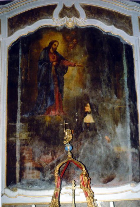 Tableau de l'Apparition du Sacré-Coeur à sainte Marguerite-Marie