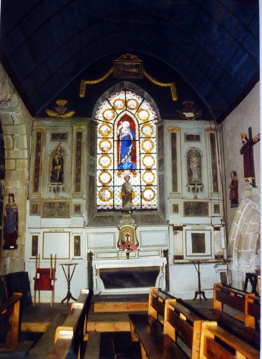 autel, retable, boiseries et statue de saint Sébastien