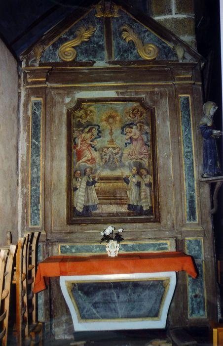 Autel et retable de l'adoration du Saint-Sacrement