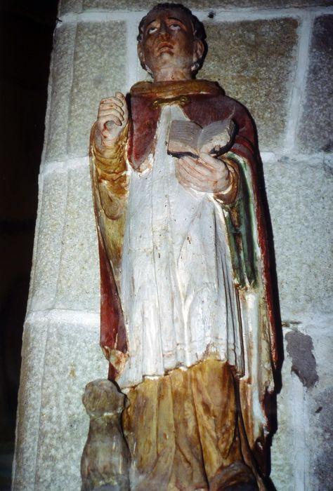 Statue : Saint Dominique avec un chien