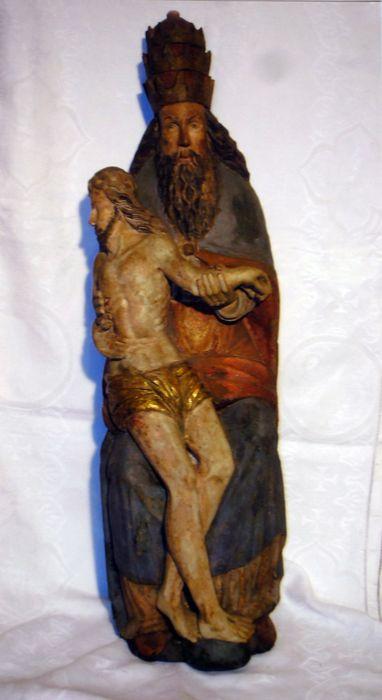 groupe sculpté : Le Père Eternel portant son fils