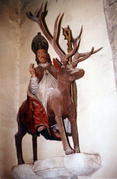 Groupe sculpté : Saint Théleau sur son cerf