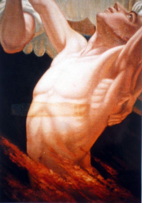 tableau : Le Purgatoire, détail