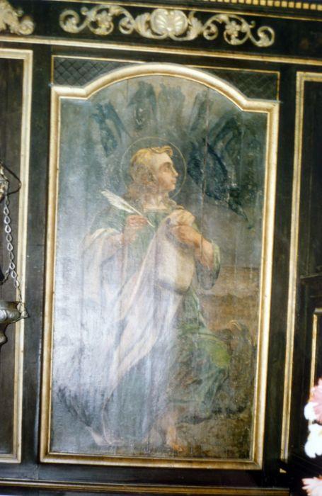 Lambris du choeur avec quatre tableaux des Evangélistes