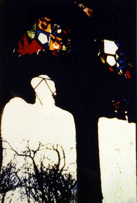 Fragments de vitraux : armoiries