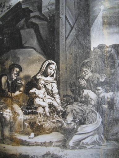 Tableau et son cadre : L'offrande des Bergers