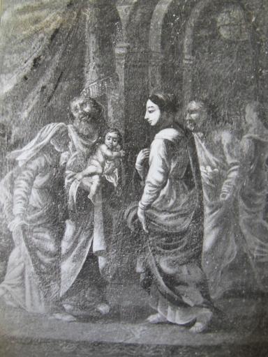 Tableau et son cadre : La Présentation au Temple