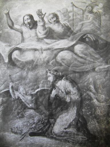 Tableau et son cadre : le Christ en croix
