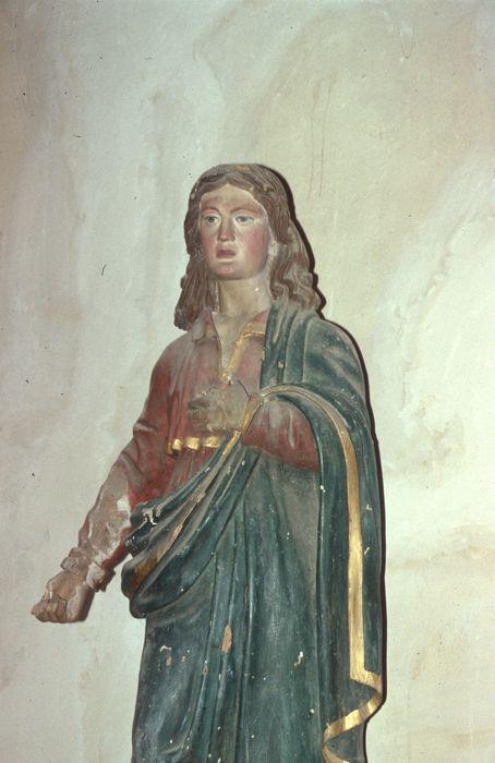 statue : Saint Jean, vue partielle