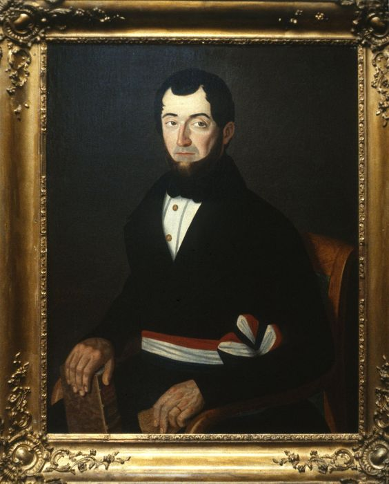 Tableau : Portrait de M. Tortellier, maire de Châteaugiron
